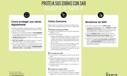 CIRCULAR Nº 5/21: SEMINARIO PROTEGE TUS OBRAS CON SAR