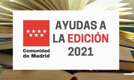 Abierta la convocatoria de Ayudas de la CAM a la Edición de Libros 2021