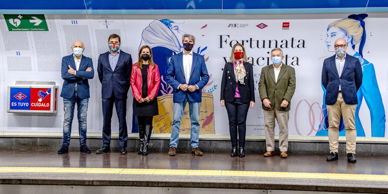 El Metro se viste de Galdós, con motivo del centenario del escritor