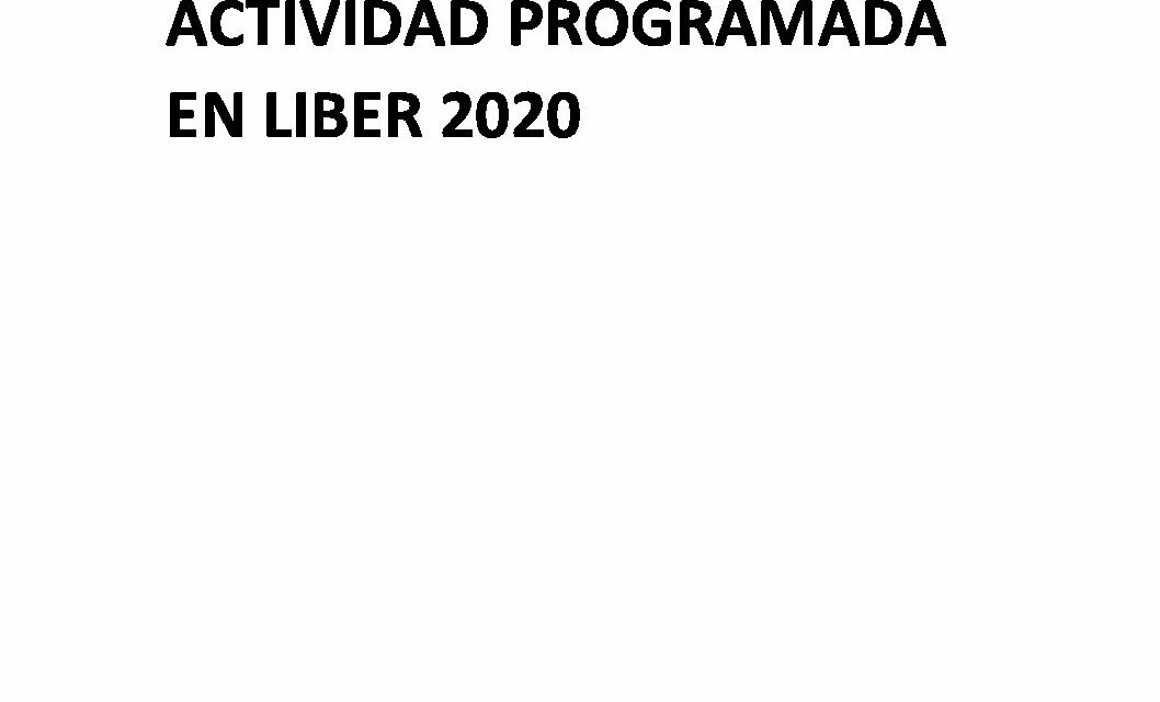 CIRCULAR Nº 58/20: LIBER DIGITAL 2020