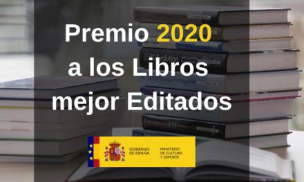Abierta la convocatoria al Premio 2020 a los Libros mejor Editados en 2019
