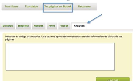 Ya puedes usar Google Analytics en tu página de autor