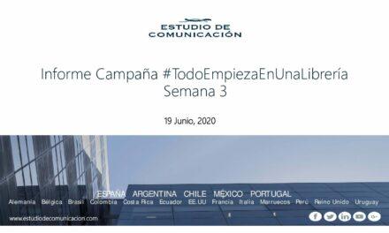 Informes de la campaña #TodoEmpiezaEnUnaLibrería de FEDECALI