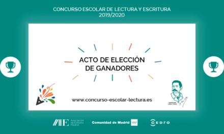 """Fallados los Premios del Concurso de Lectura y Escritura """"Microrrelatos en el Aula"""" 2019-2020 de la AEM"""