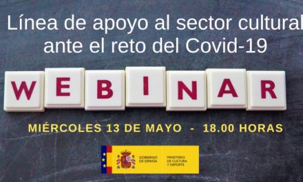 """Webinar """"Línea de apoyo al sector cultural ante el reto del Covid-19"""""""