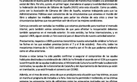CIRCULAR Nº 27/20: LIBER 2020. Barcelona, 7 al 9 de octubre