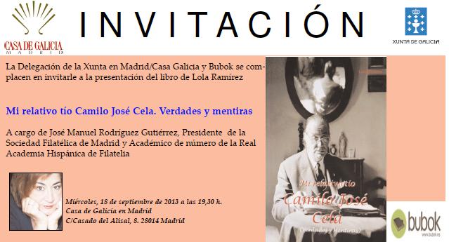 Presentación del libro «Mi relativo tío Camilo José Cela»