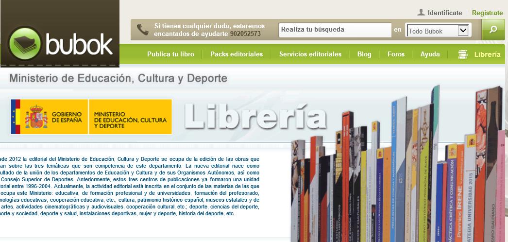 Las publicaciones del Ministerio de Educación, Cultura y Deporte en Bubok