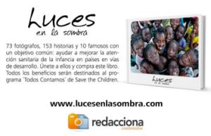 Sale a la venta «Luces en la Sombra», un libro  solidario con la participación de 10 famosos y 73  fotógrafos