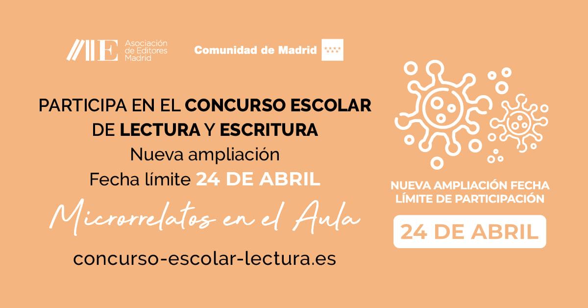 El Concurso Escolar de Lectura y Escritura se adapta al confinamiento: nuevas fechas, nuevos premios y nuevo formato
