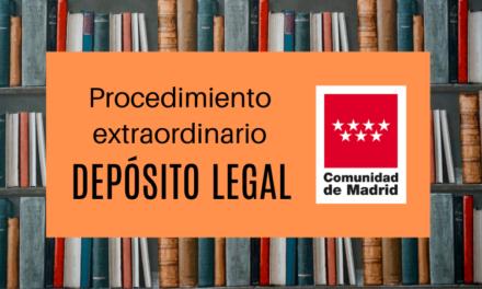 La CAM elabora un procedimiento extraordinario para obtener el número de Depósito Legal