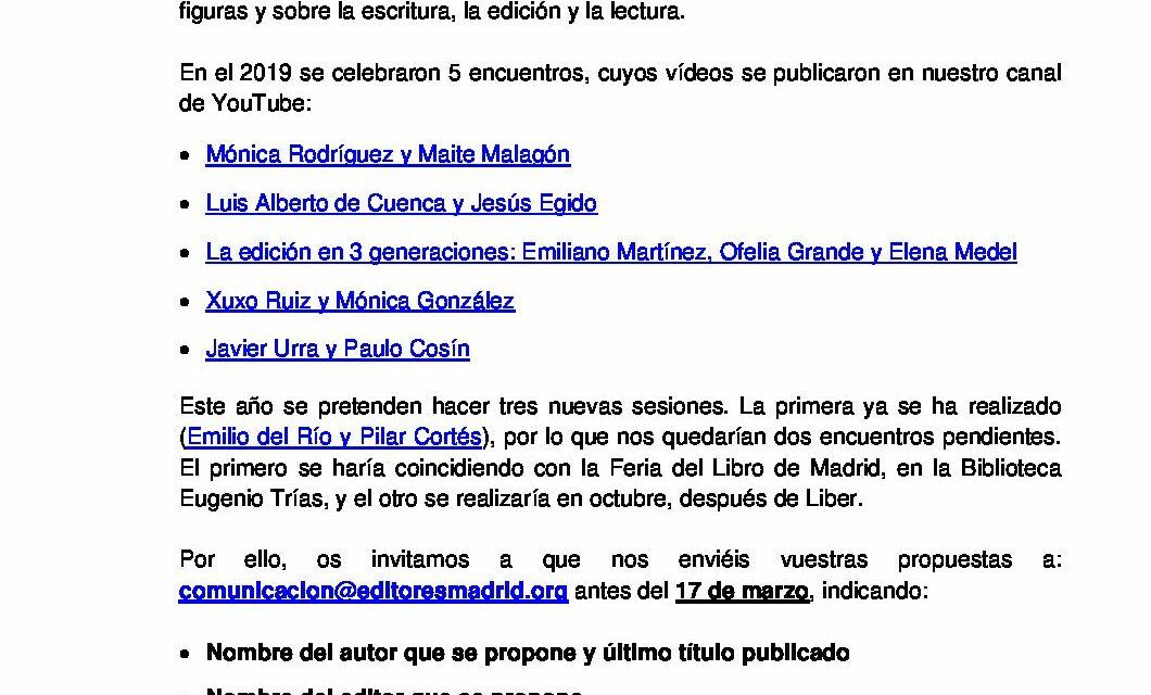 "CIRCULAR Nº 7/20: CONVOCATORIA ""A DOBLE ESPACIO"""