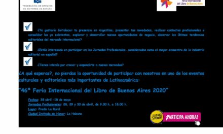 CIRCULAR Nº 43/19: FERIA INTERNACIONAL DEL LIBRO DE BUENOS AIRES 2020. Del 28 de abril al 18 de mayo (Profesionales: 28, 29 y 30 abril)