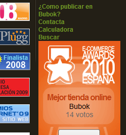 Bubok en los E-commerce awards