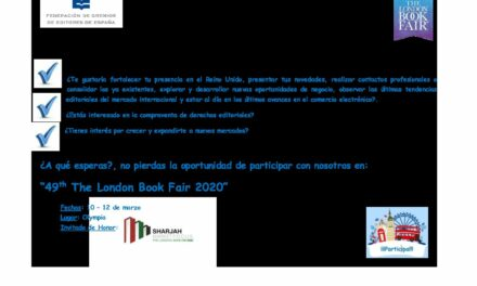 CIRCULAR Nº 42/19: FERIA INTERNACIONAL DEL LIBRO DE LONDRES 2020. Del 10 al 12 de marzo.