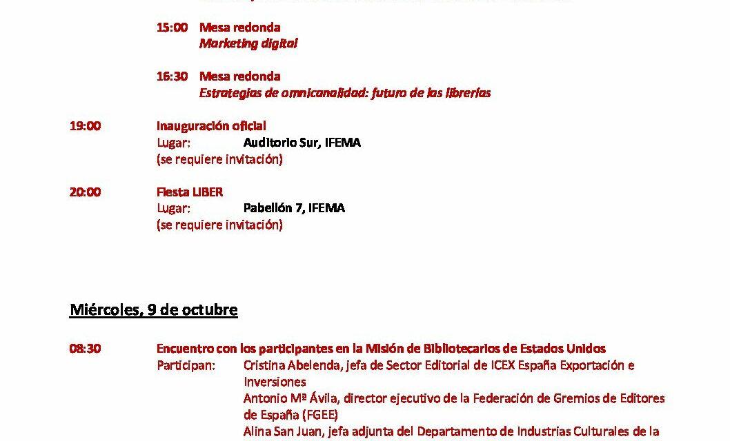 CIRCULAR Nº 38/19: LIBER 2019. Madrid, 9 al 11 de octubre de 2019