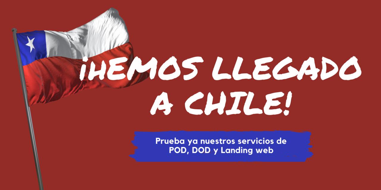 Redoble de tambores. ¡Aterrizamos en Chile con todos nuestros servicios! POD, DOD y landing web, listos para tus órdenes