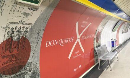 El Metro se viste de Quijote, con motivo del Día del Libro