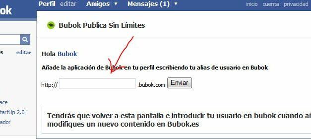 Tus libros de Bubok en Facebook