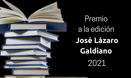 """Abierta la convocatoria del Premio a la Edición """"José Lázaro Galdiano"""" 2021"""