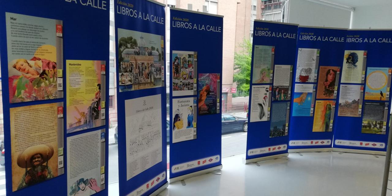 Libros a la Calle se pasea por Madrid: la red de bibliotecas de la CAM pone en marcha una exposición itinerante de la campaña
