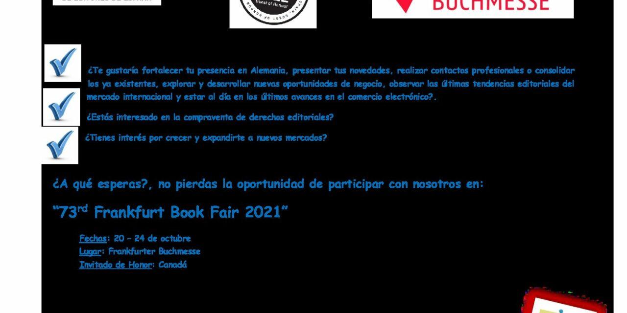 CIRCULAR Nº 21/21: FERIA INTERNACIONAL DEL LIBRO DE FRANKFURT 2021
